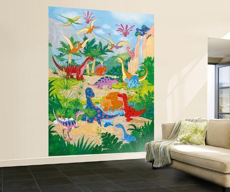 Annabel spenceley el mundo de los dinosaurios mural de - Elmundo del papel pintado ...