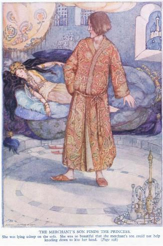 The Merchant's Son Finds the Princess Giclee Print
