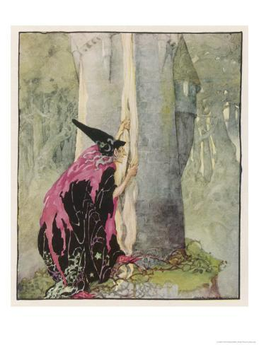 The Witch Spies on Rapunzel Giclee Print
