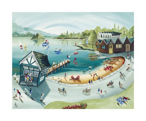 Bowness Boating Print by Anne Blundell - AllPosters.co.uk