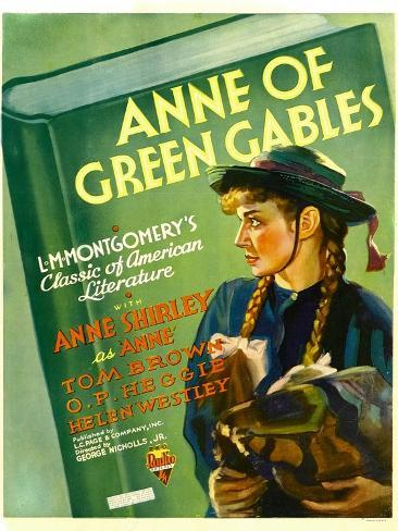 Anne of Green Gables, Anne Shirley, 1934 Impressão artística