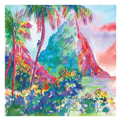 St. Lucia Rainbow Square Poster by Anne Ormsby at ...
