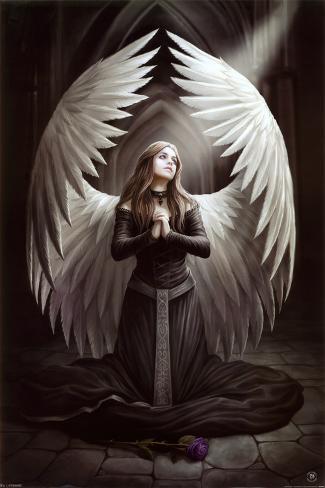Anne Stokes - Prayer for the Fallen Poster