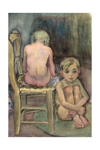 Children in the Studio, C.1939-45 Giclee Print