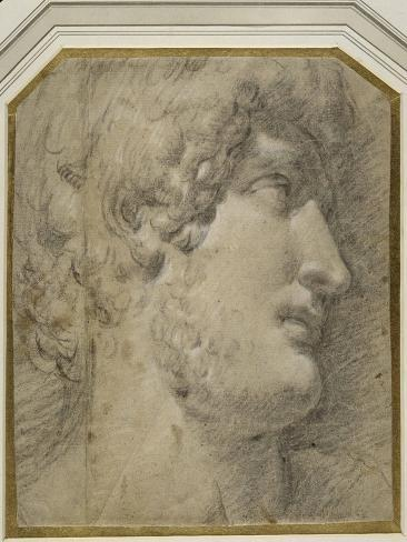 Head of the Emperor Gallienus (Or ?Hadrian), after the Antique Lámina giclée