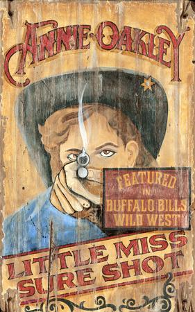 Annie Oakley Vintage Wood Sign At Allposters Com