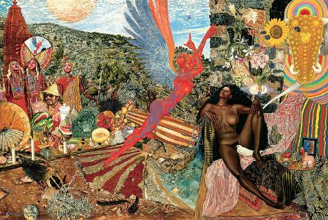 Annunciation- Santana Abraxas Cover Poster