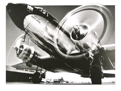Airplane : City of Portland Art Print
