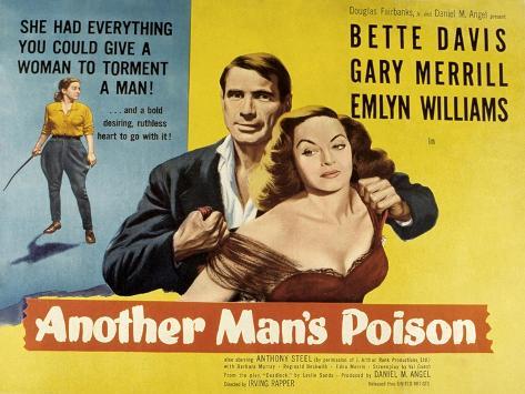 Another Man's Poison, Gary Merrill, Bette Davis, 1951 Photo