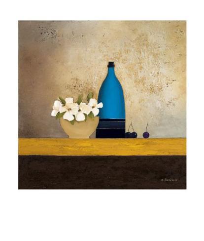 Blue Bottle Art Print