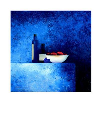 Still Life in Blue I Art Print