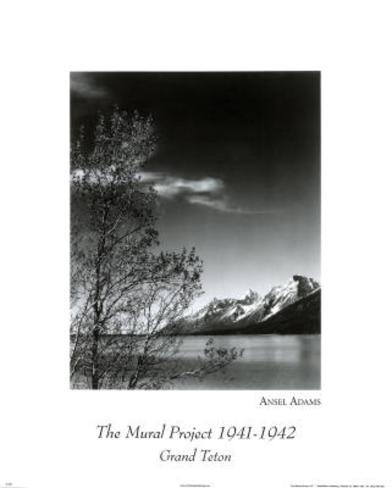 Ansel Adams (Grand Teton Park) Art Print Poster Mini Poster