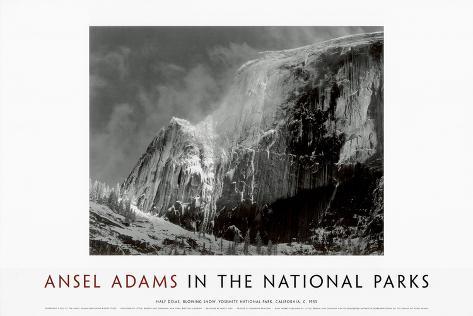 Half Dome, Blowing Snow, Yosemite National Park, c.1955 Konstprint