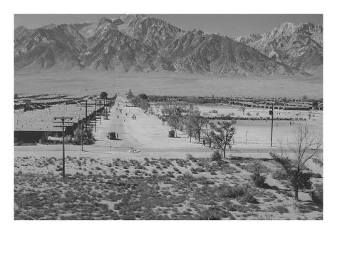 Manzanar Relocation Center from Tower Art Print