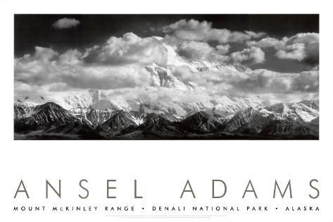 Mt. McKinley Range, Clouds, Denali National Park, Alaska, 1948 Art Print