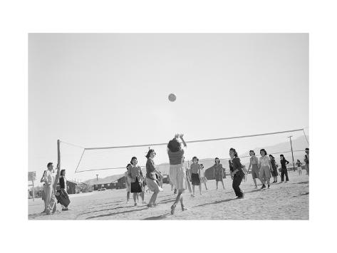 The Volley Ball Game Art Print
