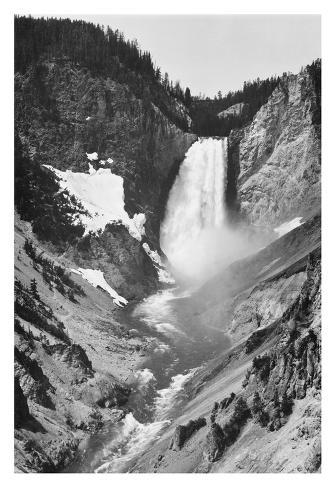 Yellowstone Falls, Yellowstone National Park, Wyoming. ca. 1941-1942 Impressão artística