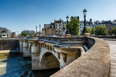 Pont Neuf and Cite Island in Paris, France Photographic Print