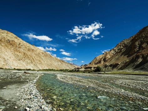 Landscape, Markha Valley, Ladakh, India Photographic Print