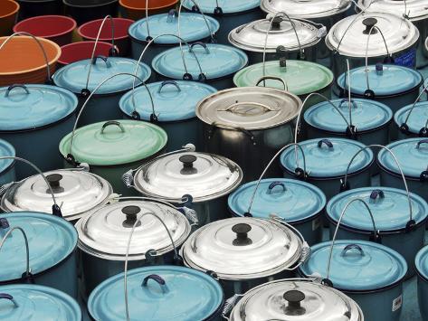 Metallic Buckets, San Juan De Chamula, Mexico Photographic Print