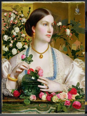 Grace Rose, 1866 (Oil on Panel) Giclee Print