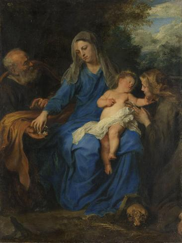 Holy Family with Mary Magdalene Art Print