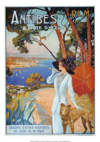 Antibes Cote d'Azur アートプリント