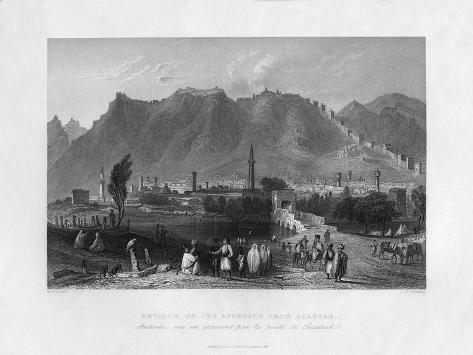 Antioch, on the Approach from Suadeah, Turkey, 1841 Giclee Print
