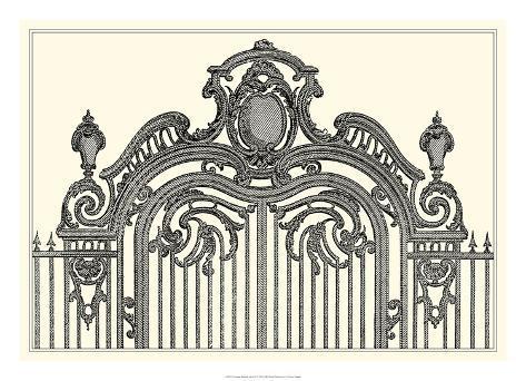 Antique Briseux Gate II Giclée-vedos