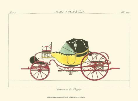Antique Carriage I Art Print