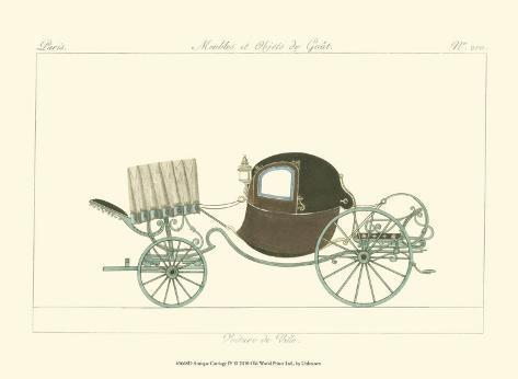Antique Carriage IV Art Print