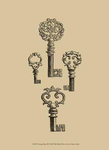 Antique Keys IV Art Print
