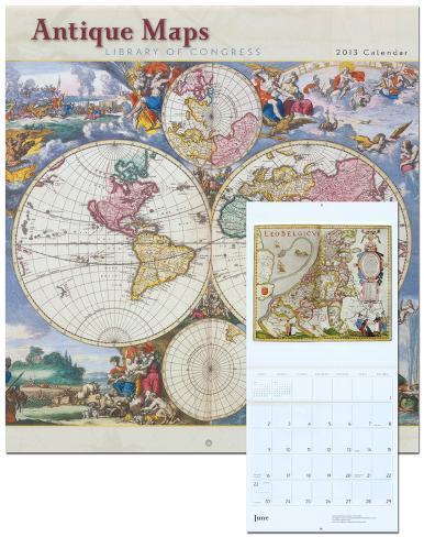 Antique Maps - 2013 Wall Calendar Calendars