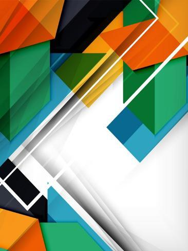 Geometrical Shape Abstract Background. for Business Background | Numbered Banners | Business Lines Art Print