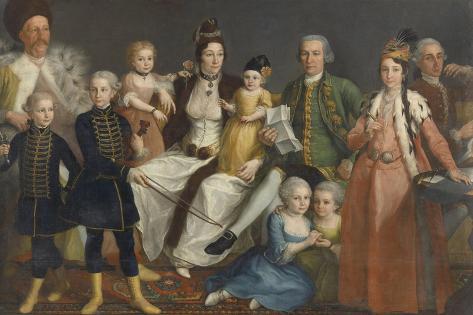 Portrait of David George Van Lennep Art Print