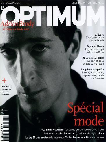 L'Optimum, September 2004 - Adrien Brody Art Print