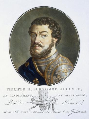 Philippe II Auguste Impressão giclée
