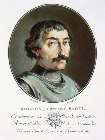 Rollo the Dane, Duke of Normandy Impressão giclée