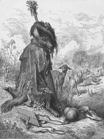 The Wolf Turned Shepherd, 1870 Giclee Print