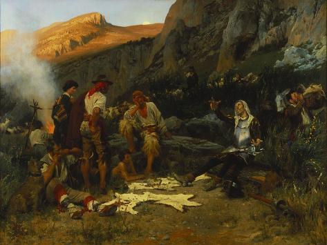 Don Quixote and the Goat Herders, 1870 Giclee Print