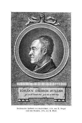 Johann Georg Sulzer Stampa giclée