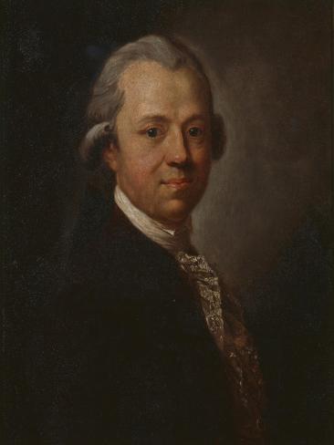 Portrait of German Writer and Publisher Christoph Friedrich Nicolai, 1783 Impressão giclée