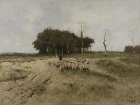 On the Heath Near Laren Art Print