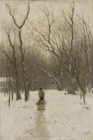 Winter in Scheveningen Bushes Art Print