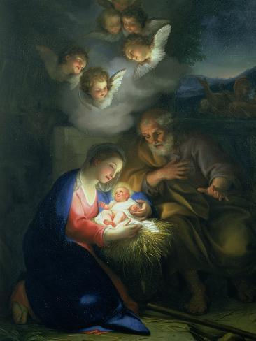 Nativity Scene Giclee Print