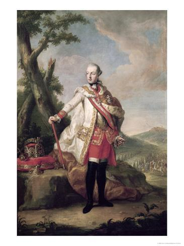 Full Length Portrait of Joseph II Lámina giclée
