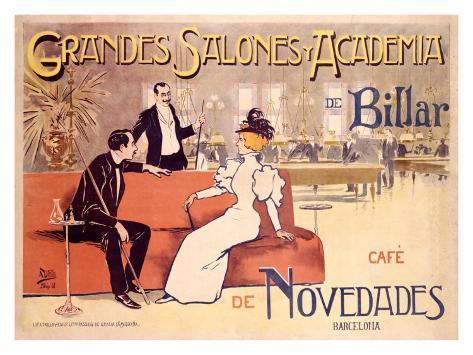 Grandes Salones y Academia de Billar Giclee Print