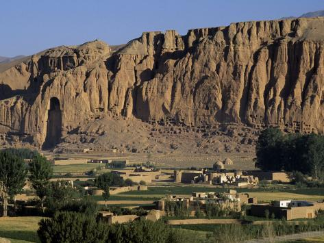 Bamiyan Valley, Showing the Large Buddha, Circa 5th Century, Afghanistan Photographic Print
