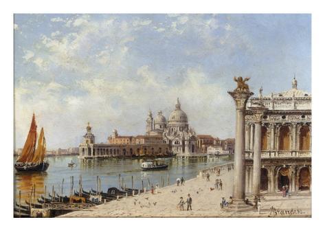 A View of the Piazzetta and Santa Maria della Salute, Venice Giclee Print