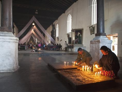 Religious Syncretism, Chichicastenango Market, Chichicastenango, Guatemala, Central America Photographic Print